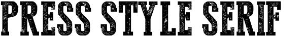 Press Style Serif