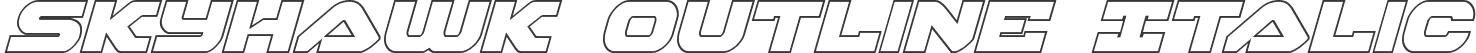 Skyhawk Outline Italic