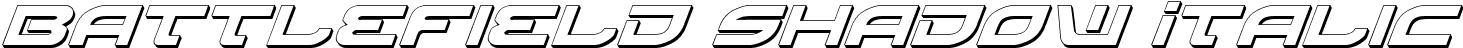 Battlefield Shadow Italic