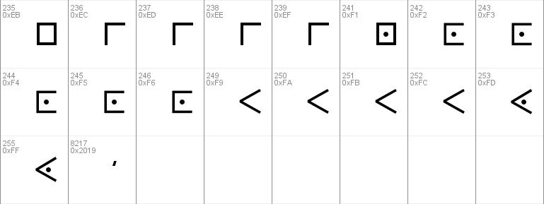 Download Free Pigpen Cipher Font Free Pigpencipher Otf Regular Font For Windows