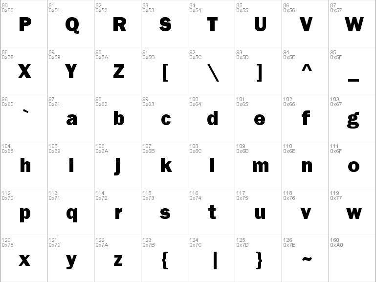 Download free Franklin Gothic Heavy font, free FRAHV ttf