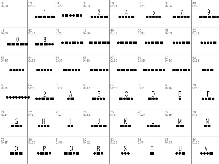 Download Free Morse Code Font Free Morsecode Ttf Regular Font For Windows