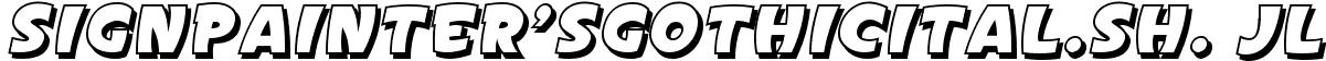 SignPainter'sGothicItal.Sh. JL