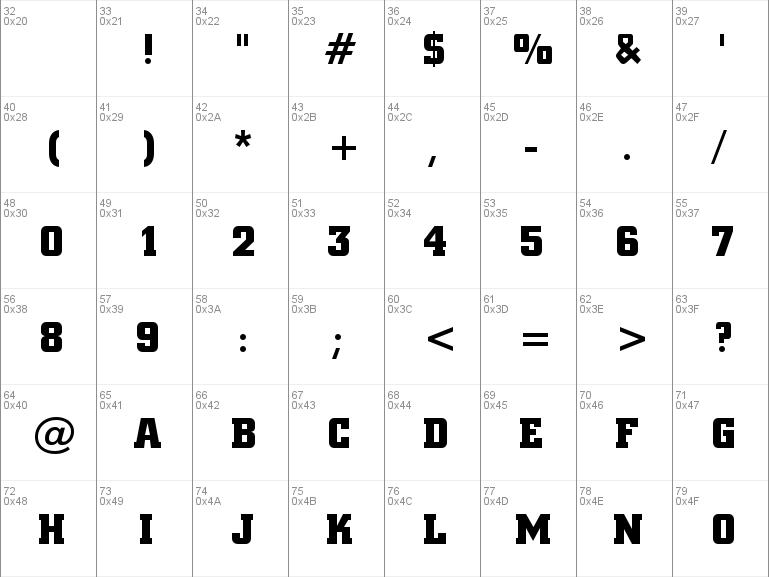 square slab font free download