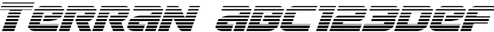 Terran Outline Italic
