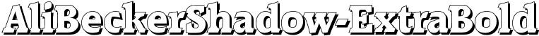 AliBeckerShadow-ExtraBold