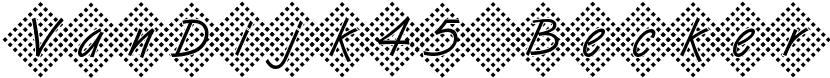VanDijk45 Becker