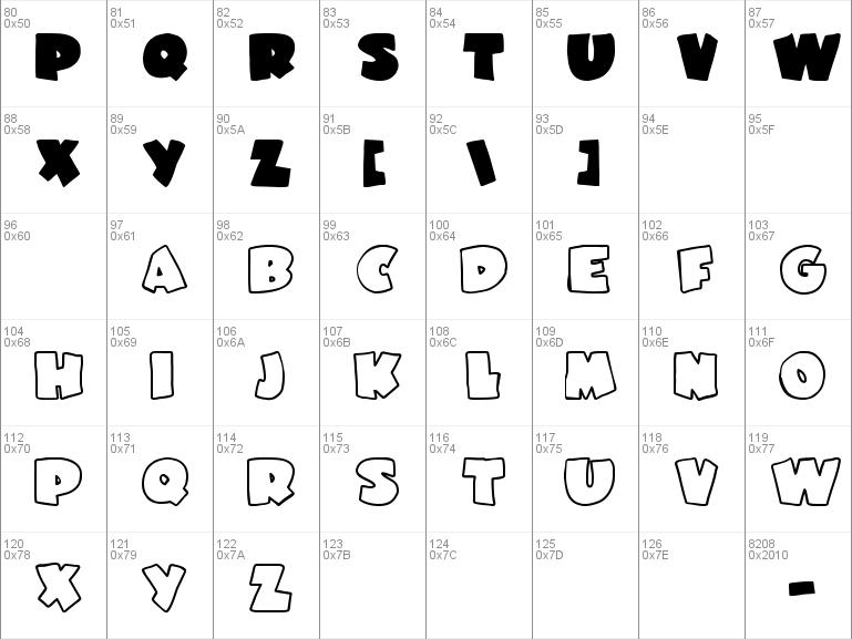 Download Free Garfield Font Free Ji Flabby Ttf Regular Font For Windows