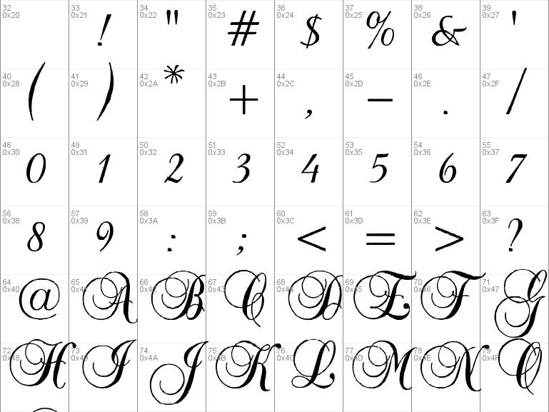 Download free Baroque Antique Script font, free