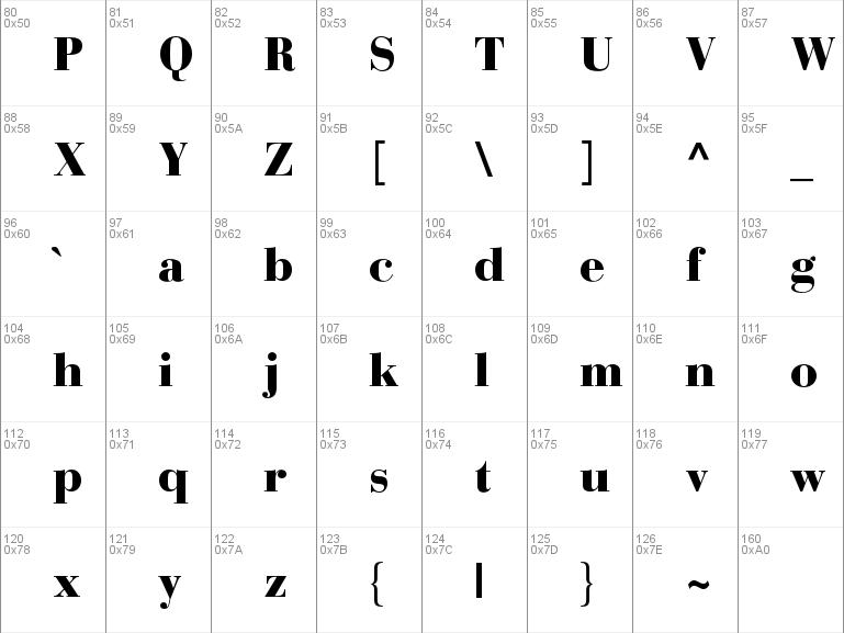 Download free Bauer Bodoni Std 2 font, free BauerBodoniStd-Black otf