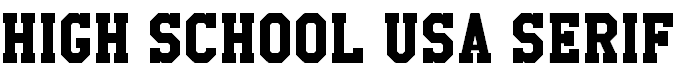 Download free High School USA Serif font, free