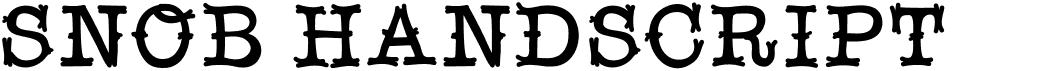 Snobhandscript